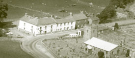 An early aerial view of the Golden Lion Hotel